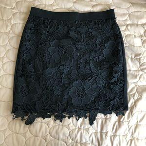American Eagle Black Laced Mini Skirt